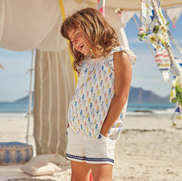 EmbroidEry slEEvElEss blousE online shopping - 100 cotton Broadcloth sleeveless blouse dress baby t shirts girls t shirt kids fashion style embroidery months years