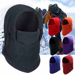Chinese  Outdoor Balaclavas Sports Headgear Neck Warm Scarf Fleece Hat Tactical CS Mask Black Face Mask Ski Snowboard Hood Windproof manufacturers