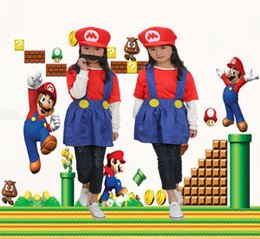 cute girl costumes for halloween Canada - Super Mario Child Skirt Version Costume, Dress Up Party Cute Costume For Child Girl Red Size L