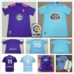 f146973f9 2018 2019 Celta de Vigo Football Jersey 9 M.Gomez 10 Iago Aspas Sisto  Custom Blue Purple 18 19 Adult Kids Soccer Shirt