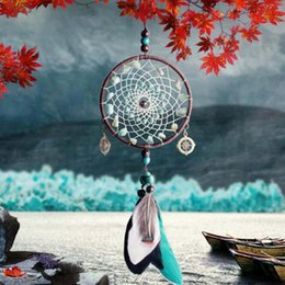 $enCountryForm.capitalKeyWord Australia - Green Beads Dreamcatcher Handmade Beaded Feather Pendant For Home Decor Wall Hanging Arts And Crafts Gift