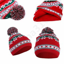 1c70f03b0fd42 warm santa hat 2019 - Christmas Cosplay Hats knitting Santa hat Warm winter  adults children Xmas