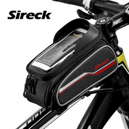 touchscreen accessories NZ - wholesale Bicycle Bag 6.0 Inch Phone Case Touchscreen Front Frame Bycicle Bike Bag Cycling Top Tube Saddle Bag Bicycle Accessories