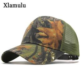 branded baseball mesh caps 2019 - Xlamulu Mesh Summer Brand Baseball Camouflage Caps For Men Snapback Women Casquette Male Hats Bones Gorras Sun Baseball
