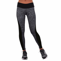 China Trend Elastic Women Slimming Pants Tight Leggings Mid Waist For Running Yoga Sports Gym Trousers Fitness Female Clothing cheap yoga pants for female suppliers