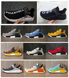 14c0a3bf17785 2018 NMD HUMAN RACE Trail boost Mens Running shoes nmds Pharrell Williams Hu  ultra boosts yellow black white womens Sport sneakers US 5-12 pharrell  williams ...