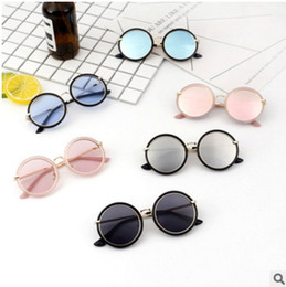 Kids Summer Sunglasses UK - New Style Children Unique Round Sunglasses Kids Cool Vintage Sun Glasses Baby Summer clear lens Eyewear UV400