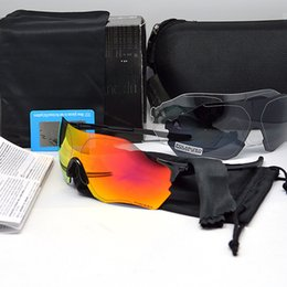 Zero glass online shopping - EV ZERO Outdoor Sport Glasses Bicycle Riding Protective Goggles Hot Polarized Eyewear Fashion Three Lens No Border td WW