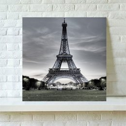 canvas prints paintings NZ - WHISM Eiffel Tower Decorative Canvas Printing Prints Oil Painting on Canvas Abstract Oil Printing Painting Wall Art Posters