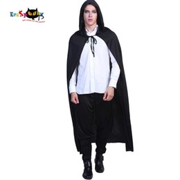 Chinese  Carnival Black Hooded Vampire Cloak Gothic Scary Halloween Costumes for Adult Men Dracula Long Cape Party Ghost Killer Cosplay manufacturers