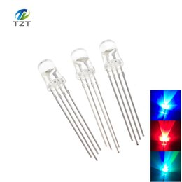 5mm rgb led diffused UK - 100pcs 5mm RGB LED Common Cathode Tri-Color Emitting Diodes f5 RGB Diffused