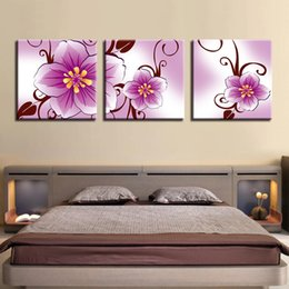 art canvas prints Australia - Canvas HD Prints Pictures Wall Art Living Room Home Decor Poster 3 Pieces Pink Peach Blossom Flowers Paintings Modern Framework