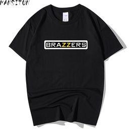 Vente en gros Man Summer Casual t shirt hommes Brazzers 3D Print tops drôle manches courtes t-shirt hommes