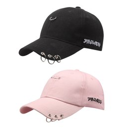 cap japanese hats NZ - 15TOP LOT SINGYOU Solid Iron Ring Baseball Cap Japanese Print Fashion Hip Hop Men Women Sun Hat Casquette Gorras