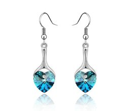 51c40e6b1 LIXINTAI brand Best-selling heart-shaped Inlaid Austria Crystal Fine  jewelry Earrings Made with Swarovski Crystal Not fading women Earrings