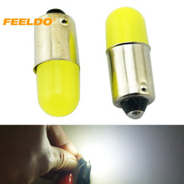 Wholesale FEELDO 50PCS White Car Interior BA9S T4W Light Pipe Bulb Reading LED Light Lamp Bulb Styling Lamp DC12V #1033