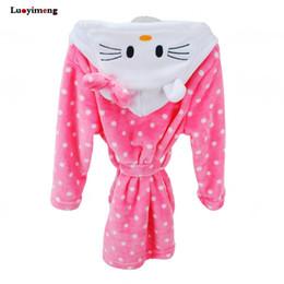 Children s Robe For Boys Winter Cute Cartoon Animal Baby Hooded Bathrobe  Bath Towel Bath Bathing Robe Baby Girls Unicorn Pajamas 8153af66c