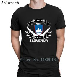 White Shirts Styles Designs For Men Australia - Slovenija Tshirts Natural Letters Short Sleeve New Fashion T Shirt For Men Summer Style Design Gift Formal Hip Hop