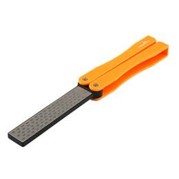 TAIDEA Coltello multifunzione Slicker Knives Grinder Sharpener Tool Tasca a due lati Diamond Outdoor Sharpening Stone T1051D