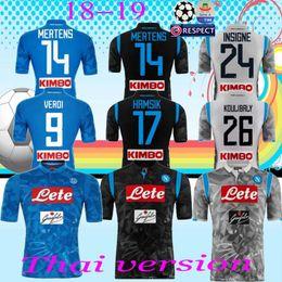 18 19 Napoli Football Jersey Hamsik Insigne Mertens Milik Callejon Maradona  Zielinski Home Away Third Naples Custom 2018 2019 Soccer Shirt 36bfa8834c32e