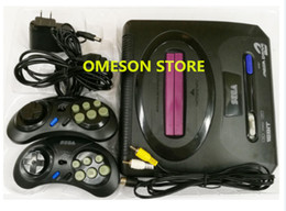 16 Bit Game Card Canada - 16 Bit MEGA DRIVE 2 Game Console For SEGA MD2 Game Player with 2 wired controllers Supprot Micro SD card US plug