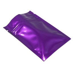 Seed Heat UK - Glossy Purple 100 Pack 14x20 cm Zip Lock Aluminum Foil Heat Sealable Food Storage Bags Foil Mylar Resealable Smell Proof Pouch for Nuts Seed