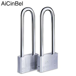 China High Quality Beam Stainless steel Long Lock bike Padlock Anti-theft Door Cabinet Drawer Gate Lock outdoor Stainless steel Lock suppliers