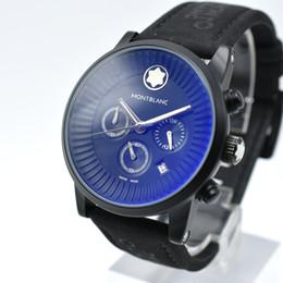 55234080f04b Nuevo estilo de los hombres del deporte casual AAA marca cronógrafo de  cuarzo militar reloj de pulsera de cuero mejor calidad analógico hombres  vestido ...