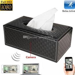 Camera Tissues Canada - HD 1080P Tissue Box mini Camera H.264 Wireless Wi-Fi network IP Cam Tissue Box MINI DV Camera home Security DVR