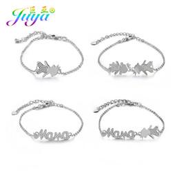 $enCountryForm.capitalKeyWord Australia - Juya Personalized Customized Jewelry Bracelets Micro Pave Zircon Boy Girl Mama Charm Bracelets For Women Girl Mama Gift Jewelry