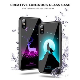 Discount mobile phones coverage - Luminous Phone Case For Iphone X XS XR XS MAX Plus Full Coverage Mobile Phone Cases Night Light Fashion Phone Back Cover