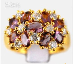 Natural 2ct Amethyst Diamond 14K Solid Y  Gold Ring