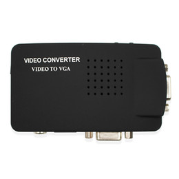 s video vga cable 2019 - Video S-Video VGA To VGA Converter Adapter cable CRT LCD monitor switch box For CCTV Camera DVD DVR PC