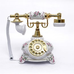 To the factory, antique telephone, turntable, old-fashioned European style, creative fashion retro landline 108 on Sale