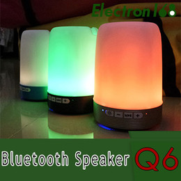 $enCountryForm.capitalKeyWord Australia - Wireless Bluetooth speaker pen holder phone bracket speaker card U disk with colorful lights mini portable small sound Q6
