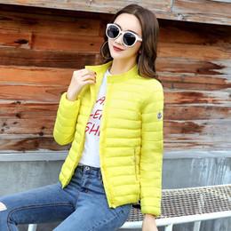 2018 europa e américa moda jaqueta curta mulheres outono e inverno fina luz casaco de algodão feminino de enchimento plus size 3xl casacos venda por atacado