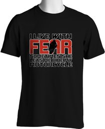$enCountryForm.capitalKeyWord Canada - I Live with Fear Funny Biker T-Shirt In Black Mens Size S To 6Xl and Tall Tee Shirt Men Man's Camiseta Short Sleeve