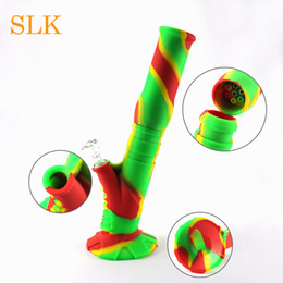 $enCountryForm.capitalKeyWord Australia - Cool 14inch tall silicone Bong colorful unbreakable percolator dab rig 14.4mm bowl down stem big hookah shisha 420 smoke water pipe