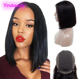 unprocessed hair wigs Australia - Malaysian Human Hair 10A Unprocessed 13X4 Lace Front Wigs Natural Color Straight Bob Wig Yirubeauty Straight Virgin Hair Lace Front Wigs