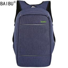 Laptop satcheL women online shopping - BAIBU NEW MEN design Anti theft USB Charging Travel Backpack Men Women school bag Large quot Laptop bag
