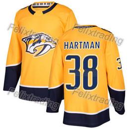 38 Ryan Hartman Nashville Predators 6 Shea Weber 9 Filip Forsberg 12 Mike  Fisher Ryan Ellis Craig Smith Kyle Turris 2018 Season Jersey 3cdc320cb