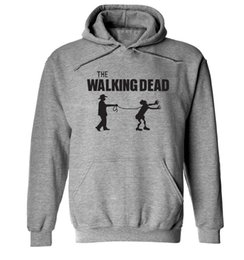 Discount walking dead clothes - 2018 new the walking dead sweatshirt Men's New autumn Printed Cotton Men hoodies fashion brand clothing long sleeve