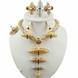 ensemble de bijoux de mariée super qualité africaine gros bijoux ensembles meilleure qualité costume or ensemble femmes collier mariage ensembles en Solde