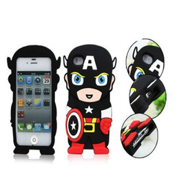 cell phones cases cartoon UK - Hot selling new deft cartoon silicone cell phone cases Batman Mobile Phone Case Superman Mobile Shell for Samsung