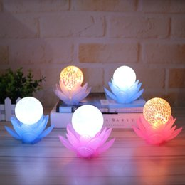 Gift Craft Christmas Ornament Australia - The new luminous Lotus lamp creative home stalls crafts ornaments boutique gift shop decoration