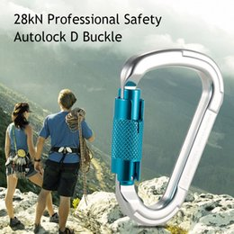 D Locks NZ - 25kN Professional Safety D Buckle Autolock Self Locking Carabiner for Mountaineering Rock Climbing Caving Rappelling Rescue Engineering