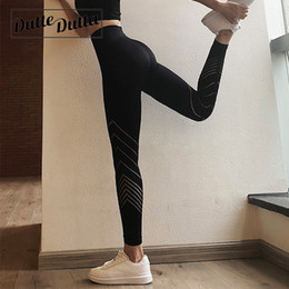 $enCountryForm.capitalKeyWord Australia - High Waist Hollow Yoga Pants Leggins Sport Sports Wear For Women Gym Plus Size Seamless Leggings Fitness Womens Sportswear