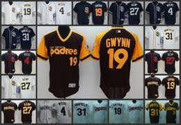 91a6f87dc70 San Diego Padres Men Jersey  4 Wil Myers 19 Tony Gwynn 31 Dave Winfield 27  Matt Kemp Woman Youth Baseball Jerseys