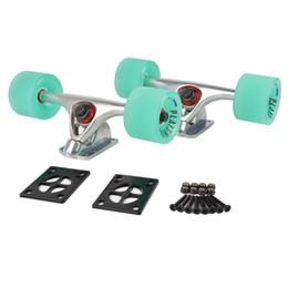 """Discount wheel gold - Longboard Skateboard Trucks Combo Set W  70Mm Wheels + 7""""Truck Package"""