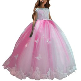 095d819d3cd Ball Gown Lace Girls Toddler Pageant First Communion Formal Occasion Bridesmaid  Flower Girl Dress